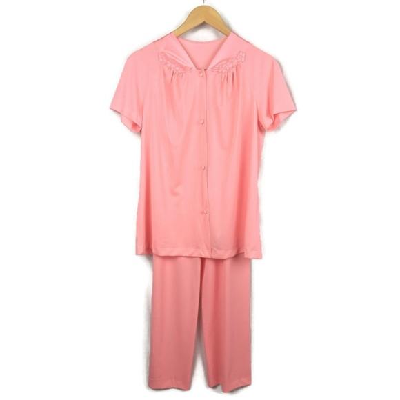 Vanity Fair Intimates Sleepwear Vintage Vanity Fair Pajama Set Womens 34 Nylon Poshmark